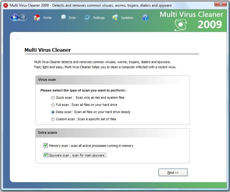 snap mvc2009 Multi Virus Cleaner   Công cụ diệt virus miễn phí