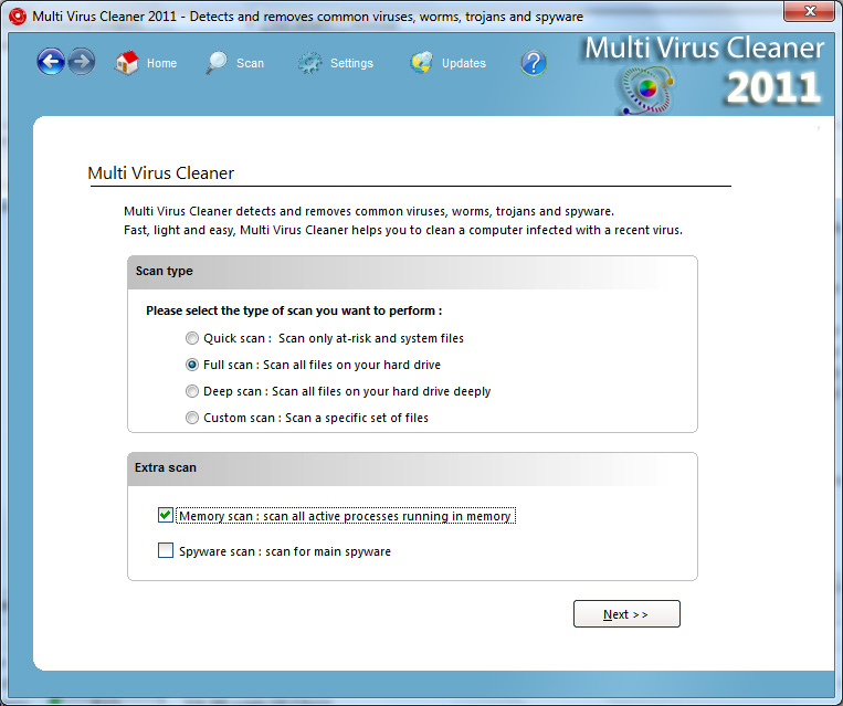 Multi Virus Cleaner 2011 screenshot